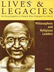 Cover of: Philosophers and Religious Leaders | Christian D. von Dehsen