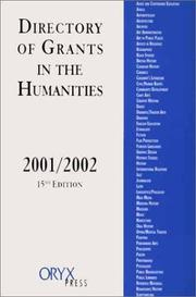 Cover of: Directory of Grants in the Humanities 2001-2002 (Directory of Grants in the Humanities, 15th ed) | Mary Masayo Doi
