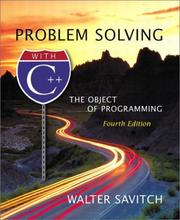 Problem Solving with C++ by Walter Savitch