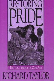 Cover of: Restoring pride