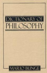 Cover of: Dictionary of philosophy