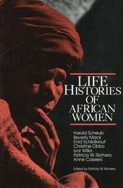 Cover of: Life Histories of African Women | Patricia W. Romero