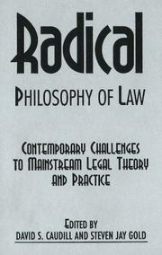 Cover of: Radical Philosophy of Law | David S. Caudill