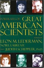 Cover of: Portraits of Great American Scientists | Judith A. Scheppler