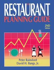 Cover of: The restaurant planning guide | Peter Rainsford
