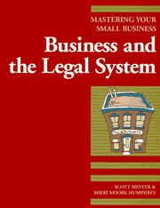 Cover of: Business and the legal system | Scott Minter