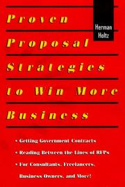 Cover of: Proven proposal strategies to win more business