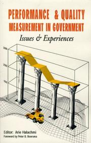 Performance and quality measurement in government