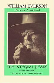 Cover of: The Integral Years