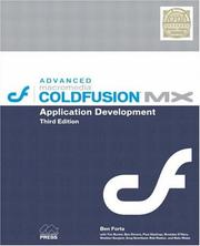 Cover of: Advanced Macromedia ColdFusion MX