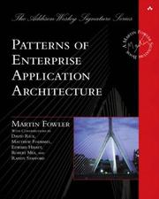 Cover of: Patterns of Enterprise Application Architecture
