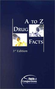 Cover of: A to Z Drug Facts 2001 | David S. Tatro