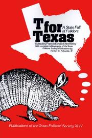 Cover of: T for Texas