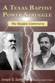 Cover of: A Texas Baptist power struggle