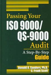 Cover of: Passing your ISO 9000/QS-9000 audit | Donald A. Sanders