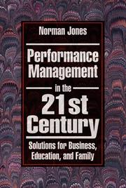 Cover of: Performance management in the 21st century