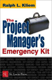 Cover of: The Project Manager's Emergency Kit