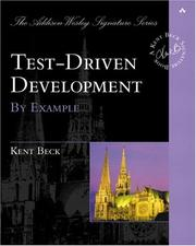 Cover of: Test-driven development