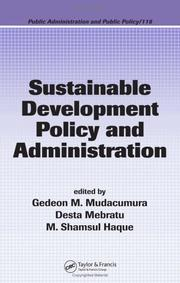 Cover of: Sustainable Development Policy and Administration (Public Administration and Public Policy) |