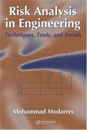 Cover of: Risk Analysis in Engineering | Mohammad Modarres