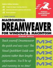 Cover of: Dreamweaver MX for Windows and Macintosh