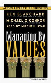 Cover of: Managing by Values (Right Livelihood)