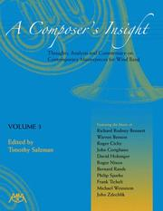Cover of: A Composer