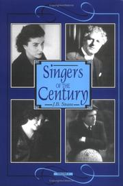 Cover of: Singers of the century