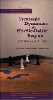 Cover of: Strategic Dynamics in the Nordic-Baltic Region | Charles M. Perry