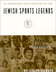 Cover of: Jewish sports legends