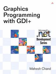 Cover of: Graphics programming with GDI+