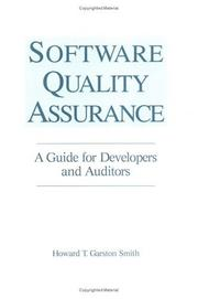 Cover of: Software quality assurance | Howard T. Garston Smith