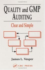 Cover of: Quality and GMP auditing