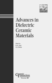 Cover of: Advances in dielectric ceramic materials |
