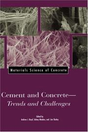 Cover of: Cement and concrete |