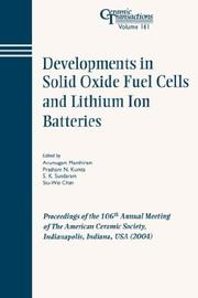 Developments in Solid Oxide Fuel Cells and Lithium Ion Batteries by