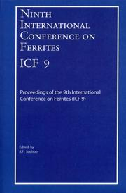 Cover of: Ninth International Conference on Ferrites (ICF-9) | R. F. Soohoo