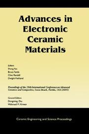 Advances in Electronic Ceramic Materials by
