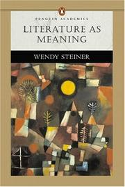 Cover of: Literature as Meaning