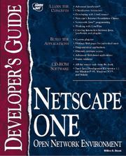 Cover of: Netscape ONE developer's guide