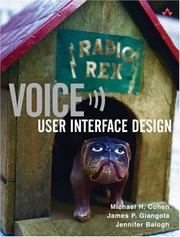 Cover of: Voice User Interface Design