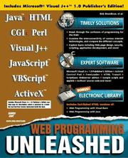 Cover of: Web programming unleashed