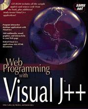 Cover of: Web programming with Visual J++