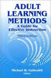 Cover of: Adult Learning Methods