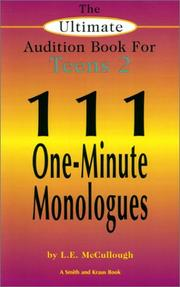 Cover of: The Ultimate Audition Book for Teens 2: 111 One-Minute Monologues (Young Actors Series)