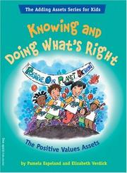 Cover of: Knowing and doing what's right