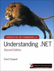 Cover of: Understanding .NET (2nd Edition) (Independent Technology Guides)