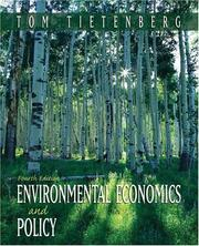 Cover of: Environmental Economics and Policy