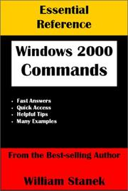 Cover of: Essential Windows 2000 Commands Reference