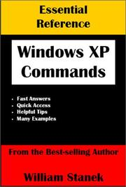 Cover of: Essential Windows XP commands reference